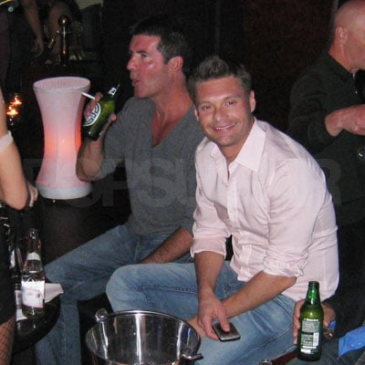 Ryan Seacrest and Simon Cowell Partying
