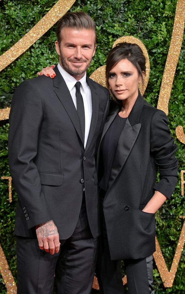 The two matched in black suits at the British Fashion Awards in November 2015.