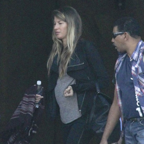 Gisele Bundchen Baby Bump Pictures in Brazil