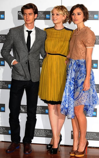 Pictures of Keira Knightley, Carey Mulligan, and Andrew Garfield at a Never Let Me Go Photo Call in London