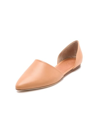 Shoes that are comfortable and chic sometimes feel like an impossibility. Enter these Vince Two Piece flats ($295) to prove us all wrong. The pointed toe and open sides are flattering on the leg, and you can tell how soft the leather is just by looking at them.  — Melissa Liebling-Goldberg