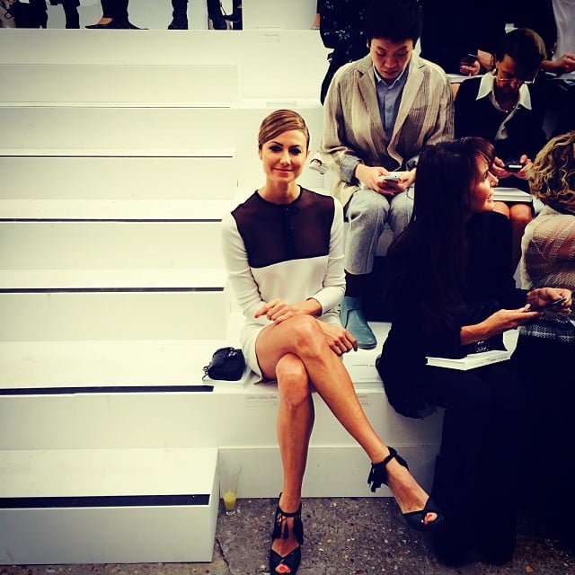 Stacy Keibler sat front row at the Chanel runway show during Paris Fashion Week. Source: Instagram user stacykeibler