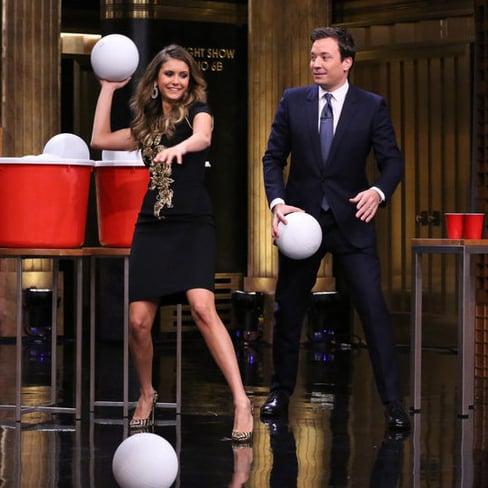 Fact: Nina Dobrev Has Epic Giant Beer Pong Skills