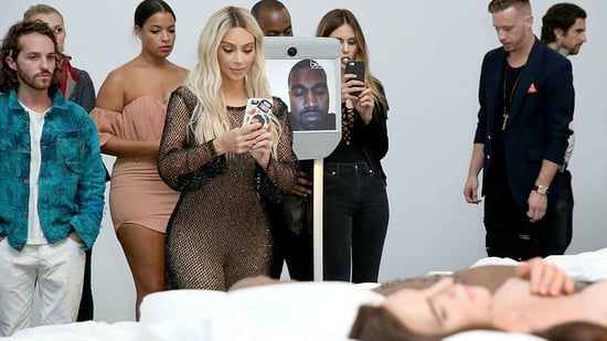 Kim Kardashian Visited Her Silicone Double at Kanye's 'Famous' Art Opening (NSFW)