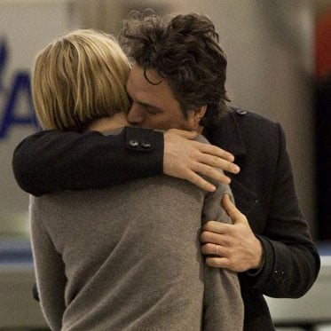 Pictures of Mark Ruffalo and His Wife Sunrise Coigney Touching Down at LAX