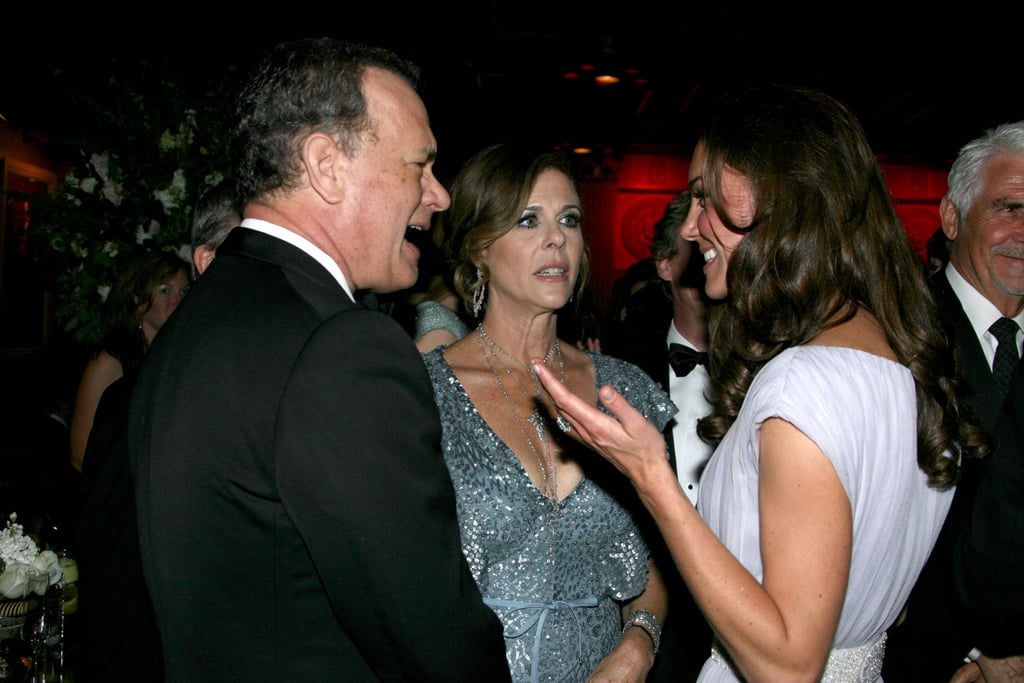 Kate Middleton had a conversation with Tom Hanks at the 2011 BAFTA Brits to Watch Event in LA in July 2011.