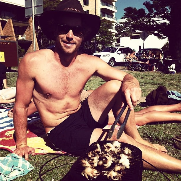 Hayden Quinn basked in the sunshine on the weekend and did some cooking. Source: Instagram user hayden_quinn