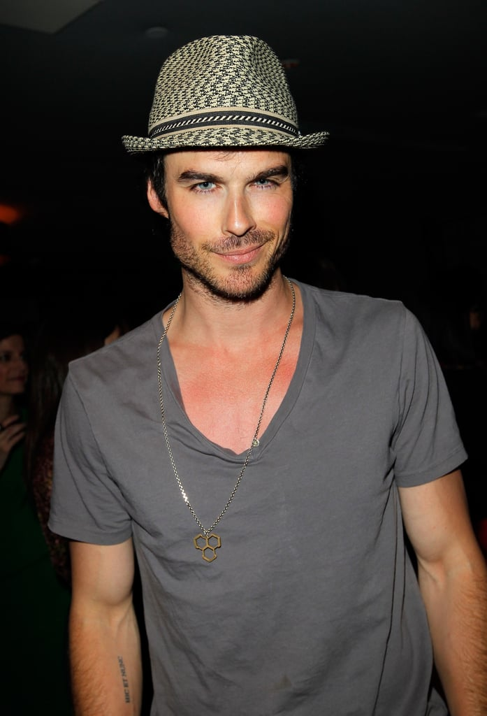 Ian Somerhalder smirked at an April 2012 event in LA.