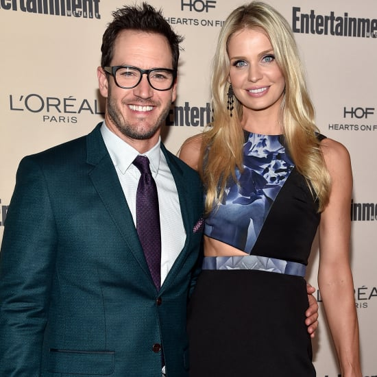 Mark-Paul Gosselaar and Catriona McGinn at Emmys Party 2015