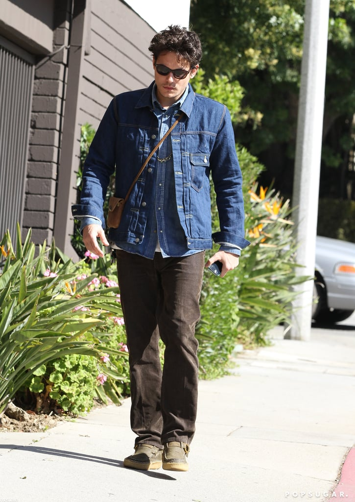 John Mayer carried his iPhone in Beverly Hills.