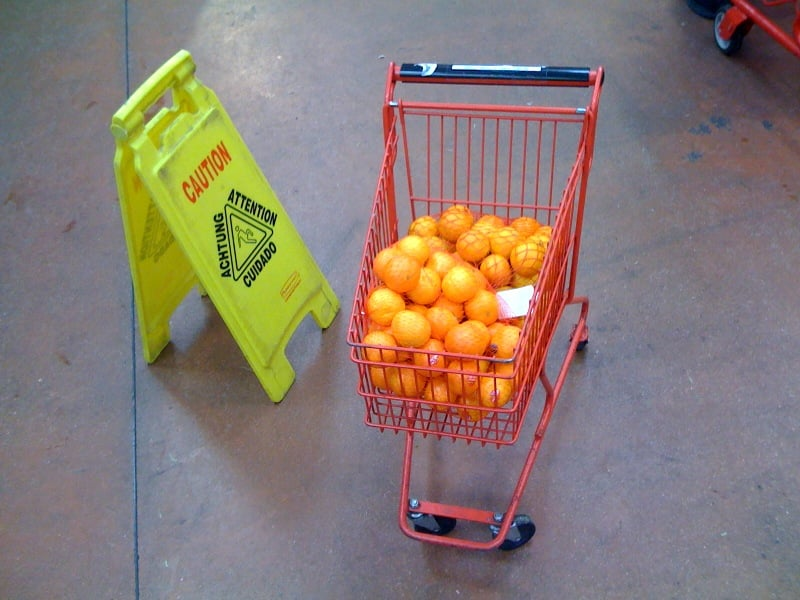 These adorable mini shopping carts: