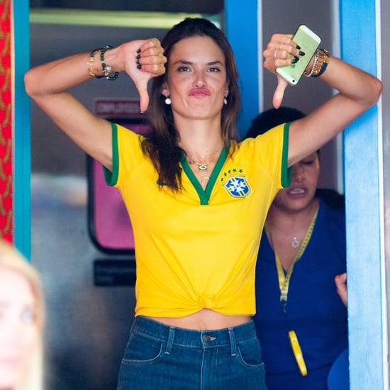 Adriana Lima, Alessandra Ambrosio After Brazil's World Cup