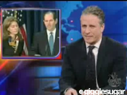 Jon Stewart and the Daily Show Rip Eliot Spitzer