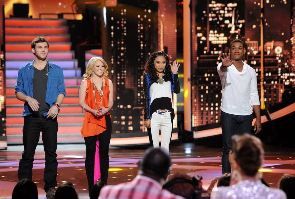 The final four contestants took the stage at the top of the show.