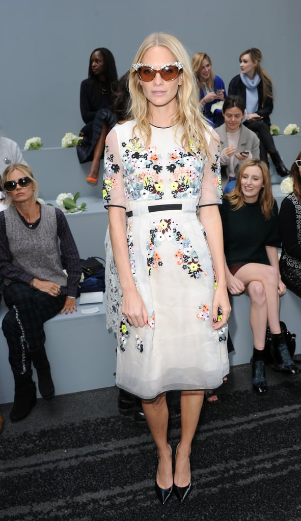 Poppy Delevingne sported some shades at the Erdem show at London Fashion Week.
