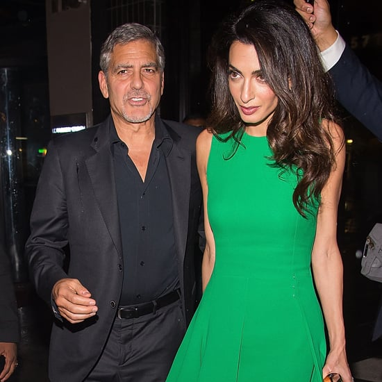 Amal Clooney Wearing Green Versace Dress