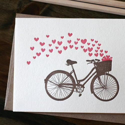 Valentine's Day Fitness Cards | Running, Yoga, Bicycles