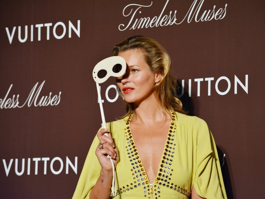 Timeless Muse Kate Moss Trades Her Bikini For Cocktail Attire