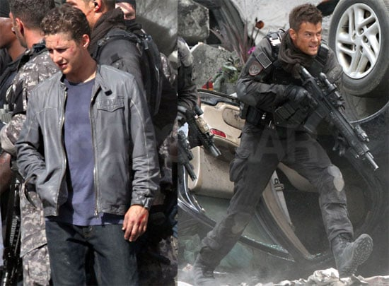 Pictures of Shia LaBeouf and Josh Duhamel on the Set of Transformers 3
