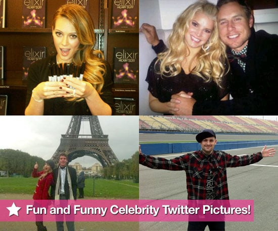Fun and Funny Celebrity Twitter Pictures including Hilary Duff, Taylor Swift and Jessica Simpson