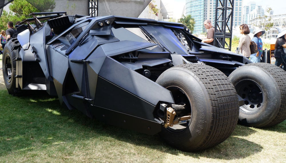 Christian Bale's Batmobile in Batman Begins and The Dark Knight.