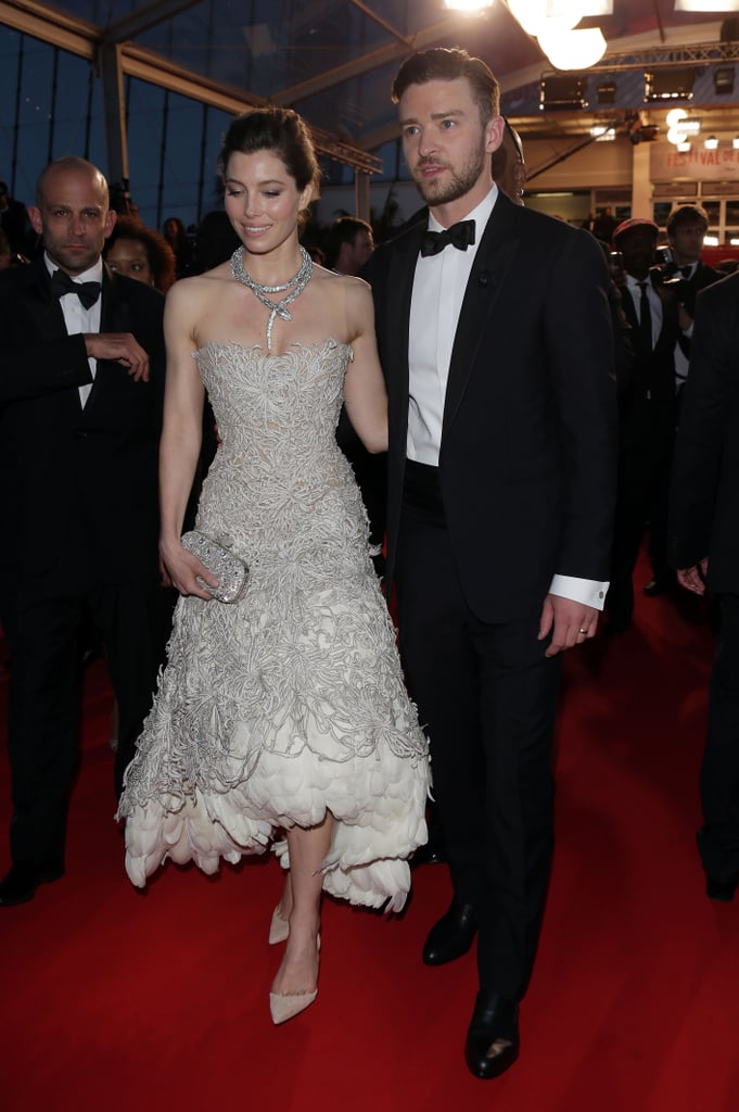 Jessica Biel joined Justin Timberlake in the South of France to attend his Cannes Film Festival premiere of Inside Llewyn Davis in May 2013.