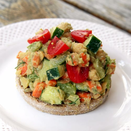 smashed chickpea greek salad sandwich from www twopeasandtheirpod com ...