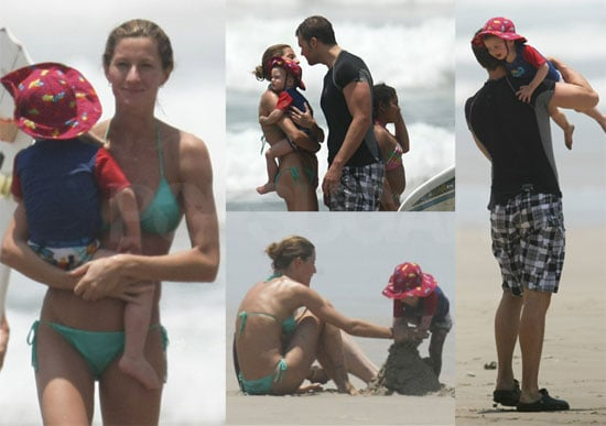 Photos of Gisele Bundchen in Costa Rico in a Bikini with Tom Brady; Bridget Moynahan Speaks Out About Their Son Jack