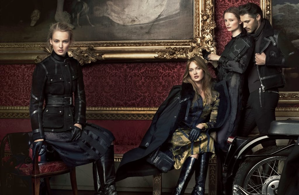 Edgy trench coats, leather jackets, and everything dark and moody feels just right for Belstaff's Fall campaign.