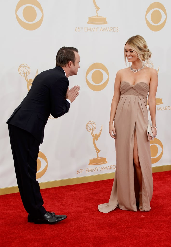 Aaron Paul bowed to his wife, Lauren.