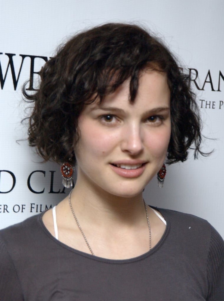 She went the shorter route in 2004, with dark curls cascading down her head.