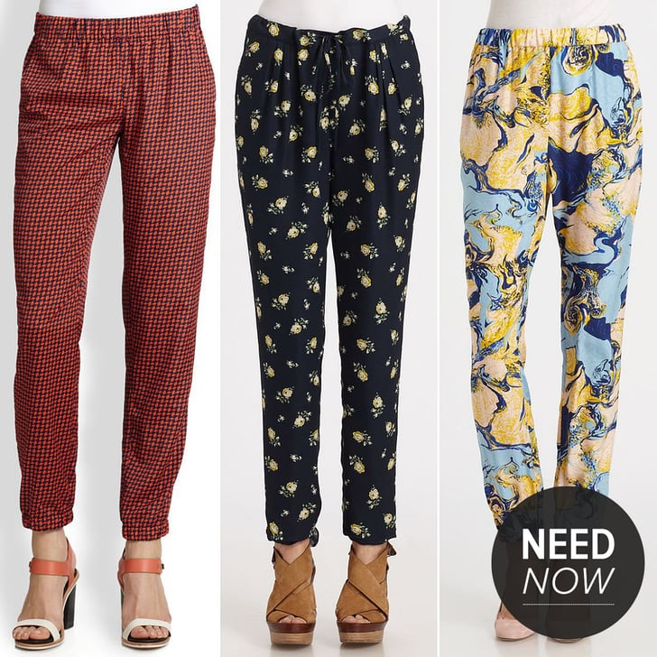 Buh-Bye, Blue Jeans — See Why We're Loving Slouchy, Printed Pants!