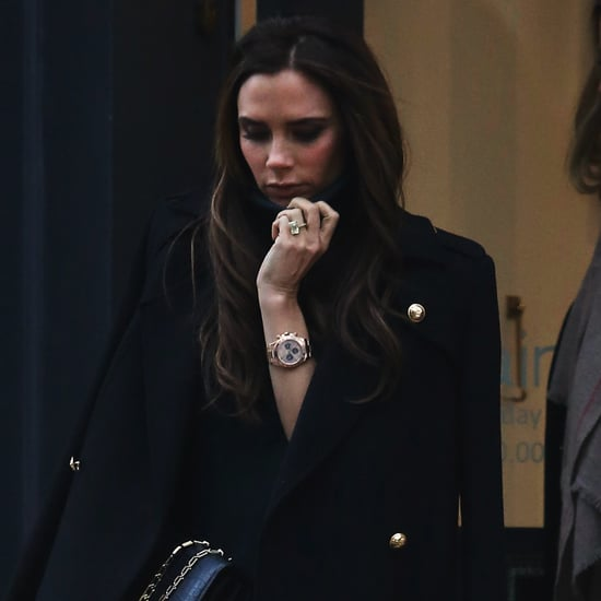 Victoria Beckham Wearing Black Shopping in London | Pictures