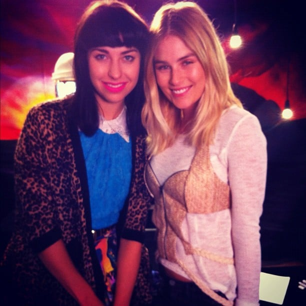 Carissa Walford got up close and personal with Kimbra. Source: Instagram user cwalford