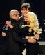 Christina Aguilera, Pitbull, and Morten Harket hugged it out.