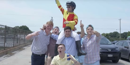 Comedian Pretends To Be A Jockey At The Belmont Stakes