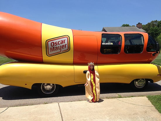 'Hot Dog Princess' Gets a Visit from Oscar Mayer's Wienermobile!