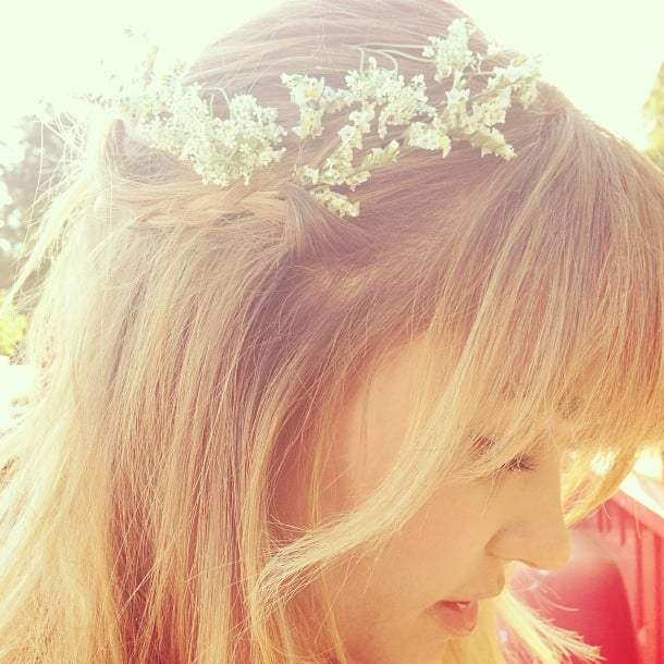 Lauren Conrad got into the warm-weather spirit with flowers in her hair.  Source: Instagram user laurenconrad