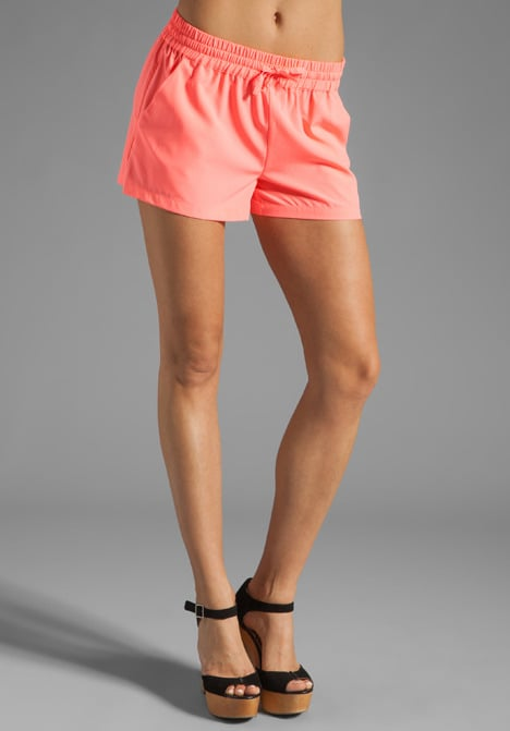 BB Dakota's neon-pink shorts ($31, originally $44) are sporty in cut and ultrafeminine in color.