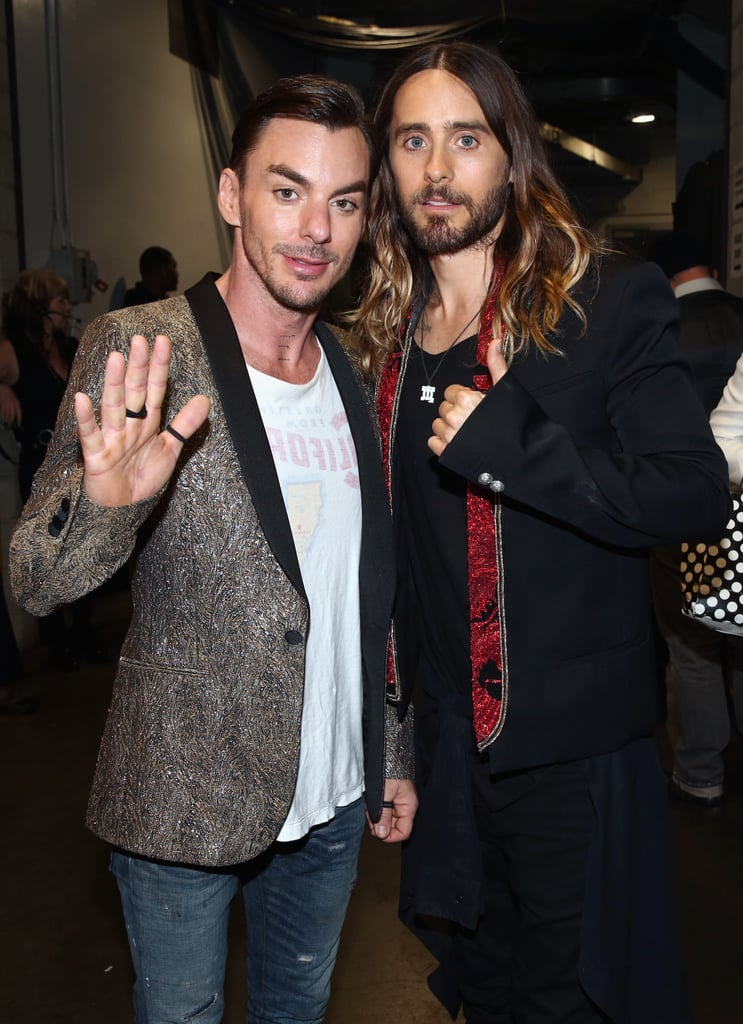 Jared Leto brought his brother Shannon to the show.