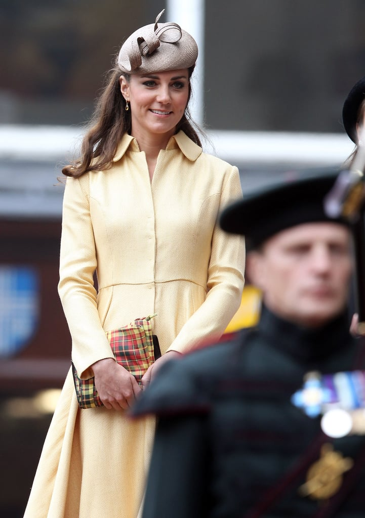 Kate Middleton arrived with Prince William for the Thistle Ceremony in Scotland.