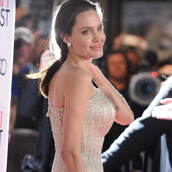 Angelina Jolie in Strapless Atelier Versace Gown