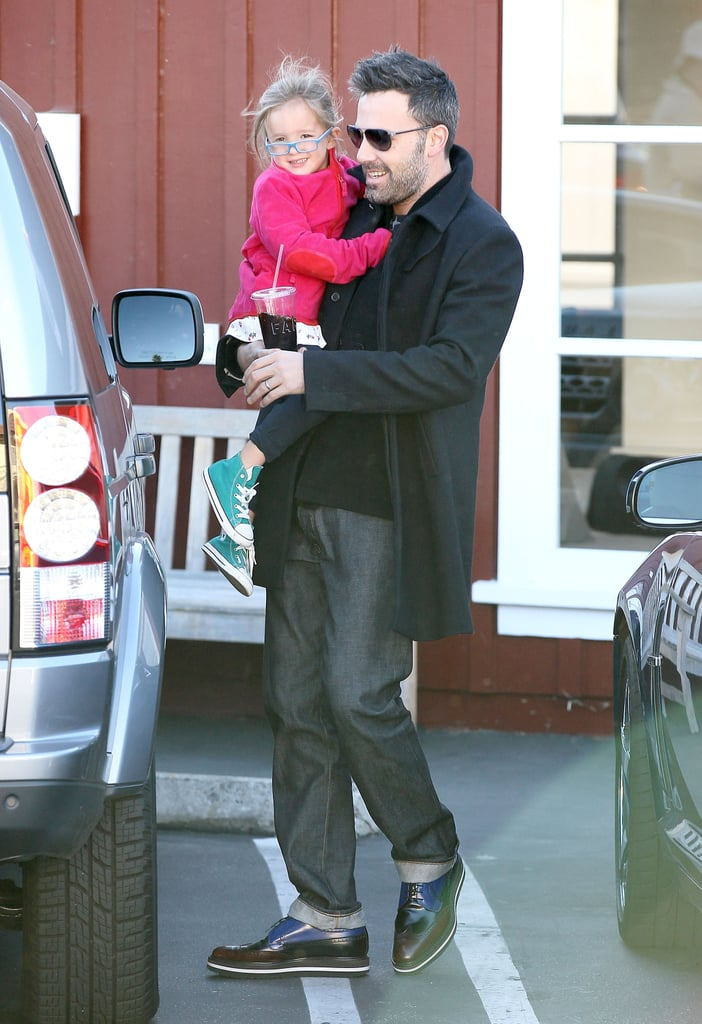Seraphina Affleck wore pink to run errands with dad Ben Affleck in October in LA.