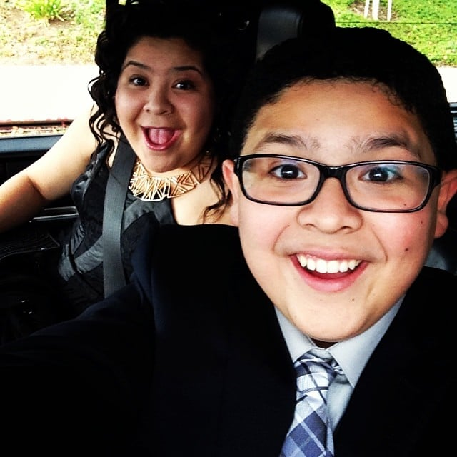 Modern Family's Rico Rodriguez was all smiles on his way to the Golden Globes. Source: Instagram user starringrico