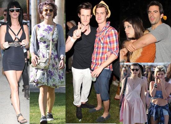 Photos of all the Celebrities at the Coachella Festival 2010 including Agyness Deyn, Peaches Geldof, Katy Perry