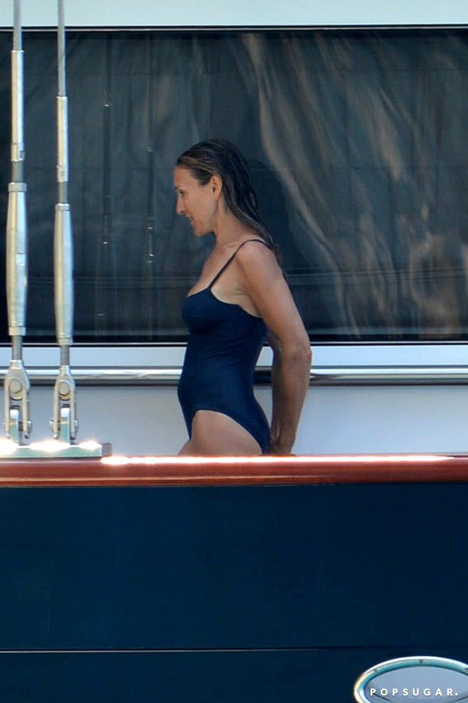 SJP Gets Snapped in a One-Piece by Adoring Matthew Broderick