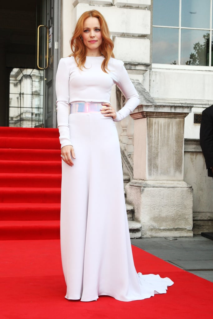 Rachel McAdams hit the red carpet for the London premiere of About Time.