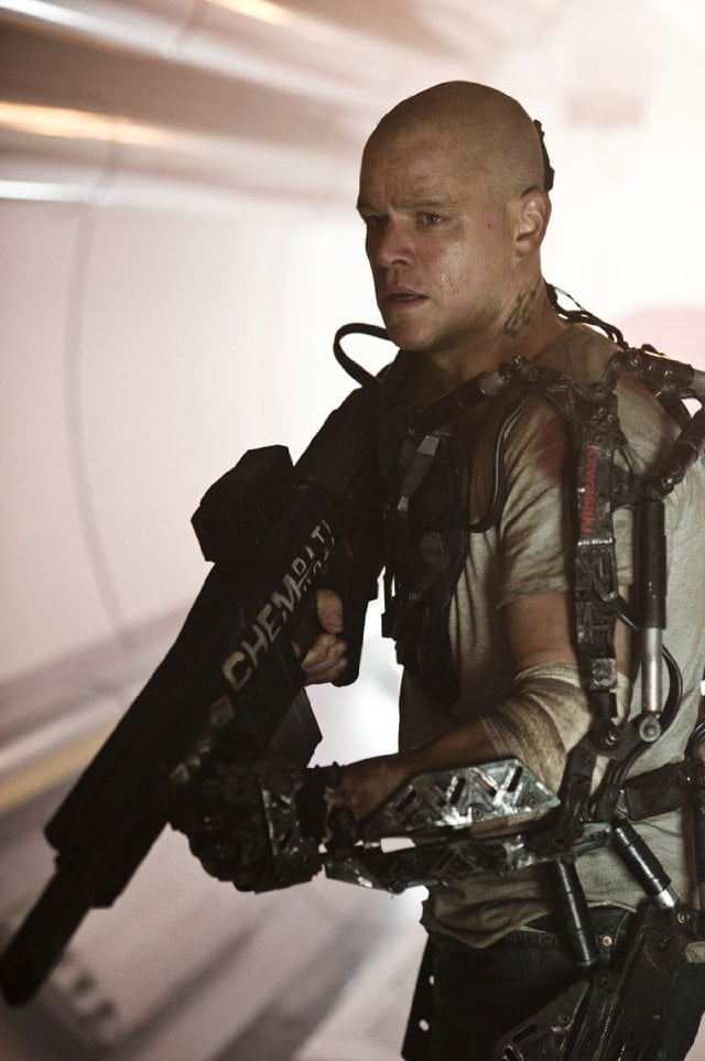 Elysium  Who's starring: Matt Damon and Jodie Foster Why we're interested: Damon has already proven that he can carry an action flick, so we're excited to see him take a spin with sci-fi. He stars as a man who leaves Earth for a mission to space station Elysium in the year 2154. When it opens: Aug. 9 Watch the trailer for Elysium.