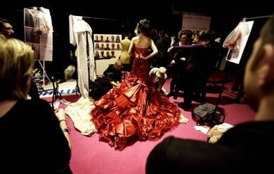 Backstage at Jenny Packham for London Fashion Week