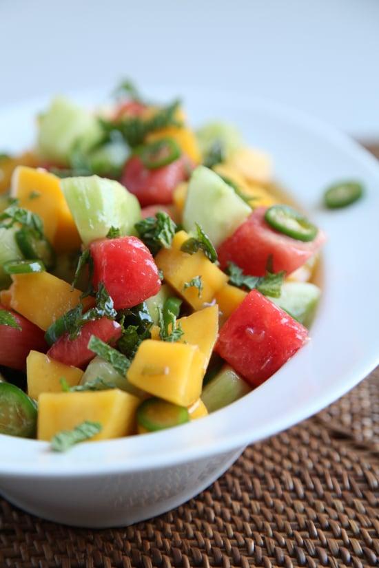 Savory Cucumber, Watermelon, and Mango Salad
